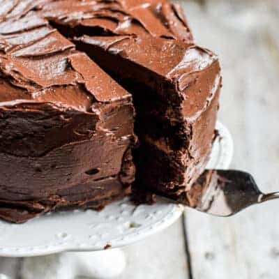 Decadent Chocolate Cake with Sourdough Starter