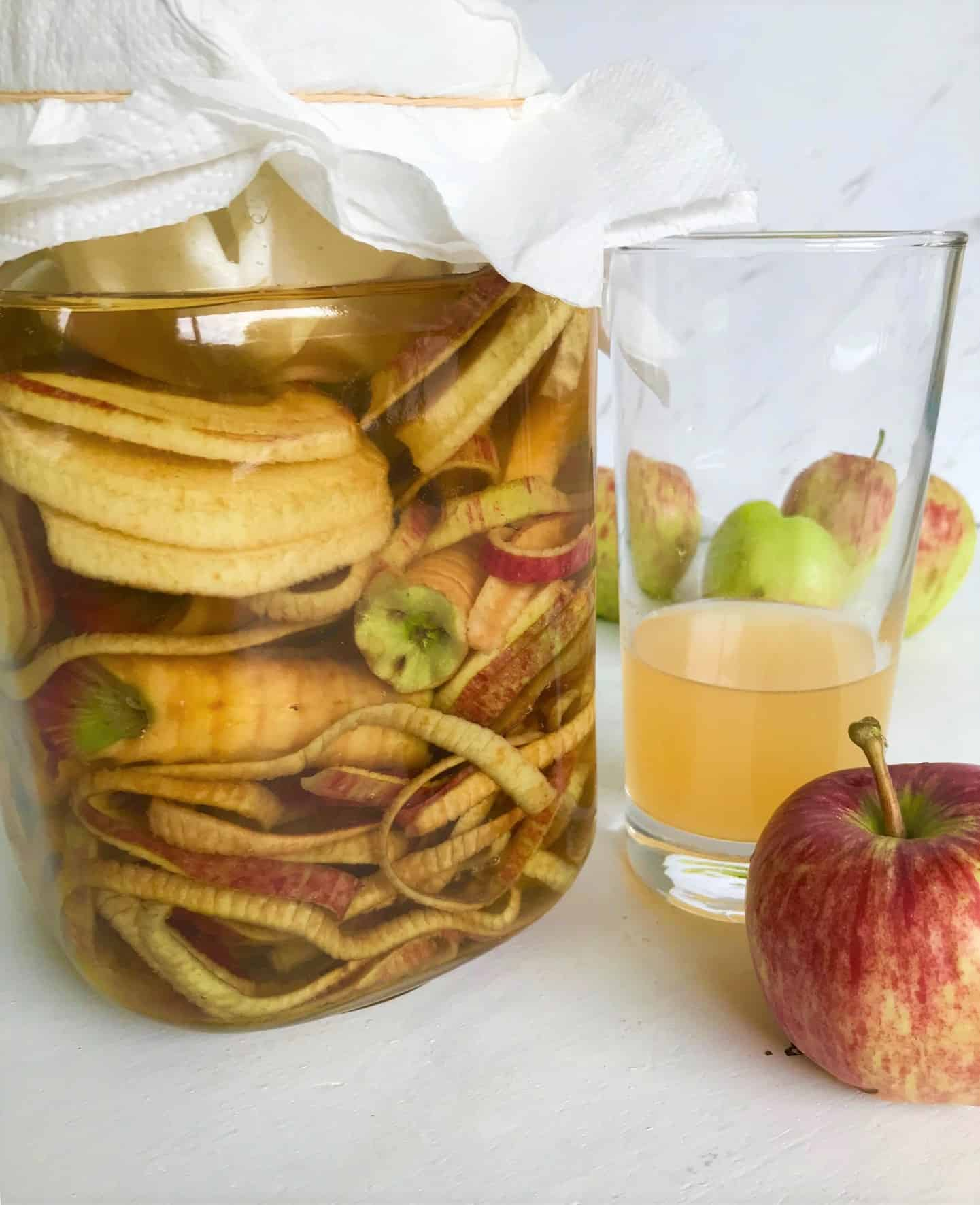 How to Make Apple Cider Vinegar from Scraps (or any fruit!)