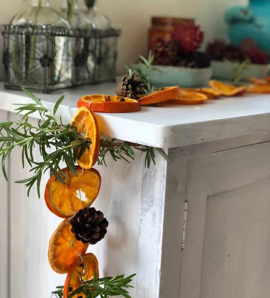 Dried Orange and Clove Garland