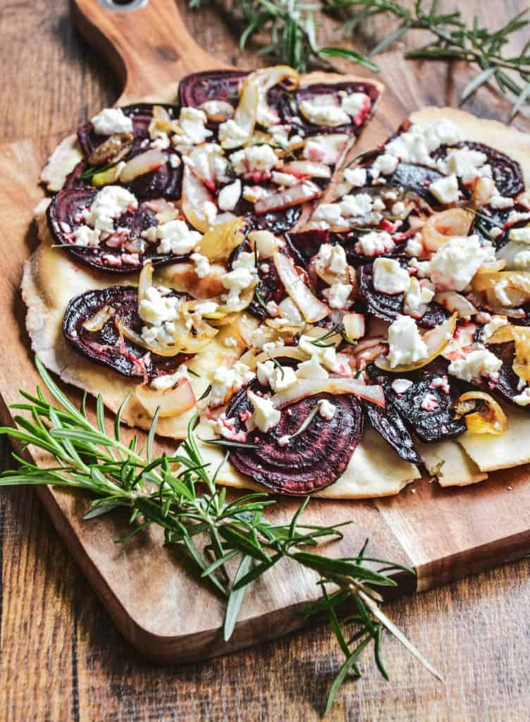 Roasted Beetroot Pizza
