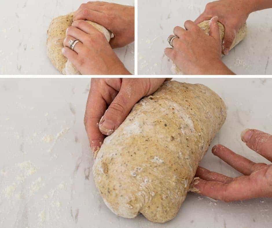 rolling the dough
