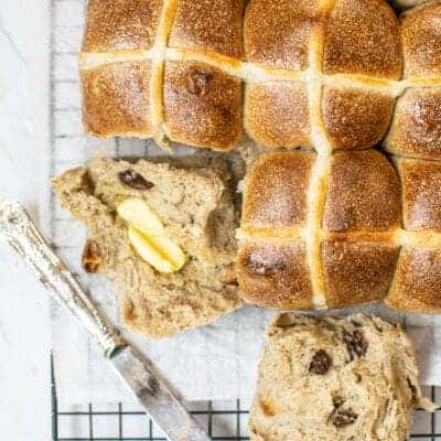 Soft and Fluffy Sourdough Hot Cross Buns