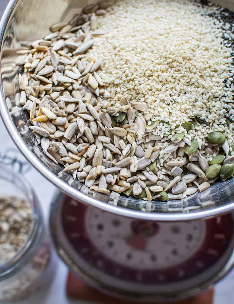 Seeds in a scale