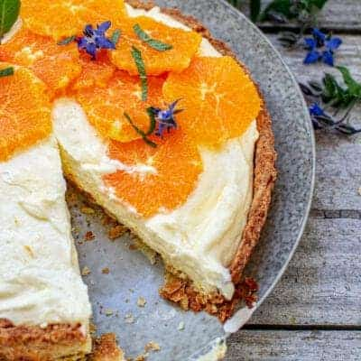 Creamy Lemon Tart with a Yogurt Mousse Filling