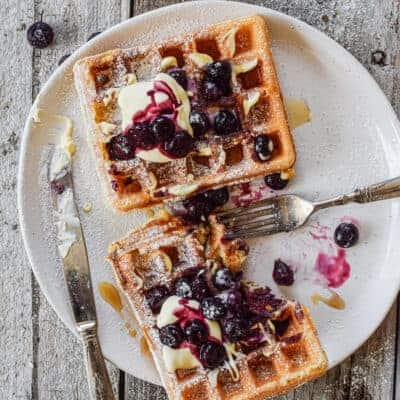 Deliciously Light Sourdough Waffles (using Discard Starter)