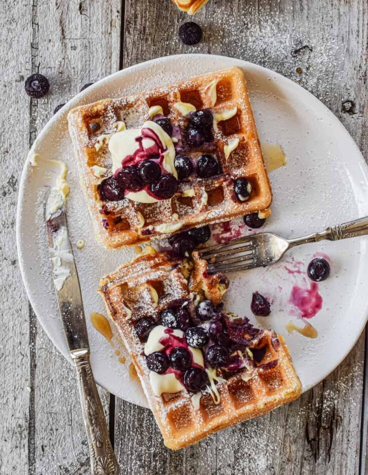 Sourdough Waffles with Discard Starter