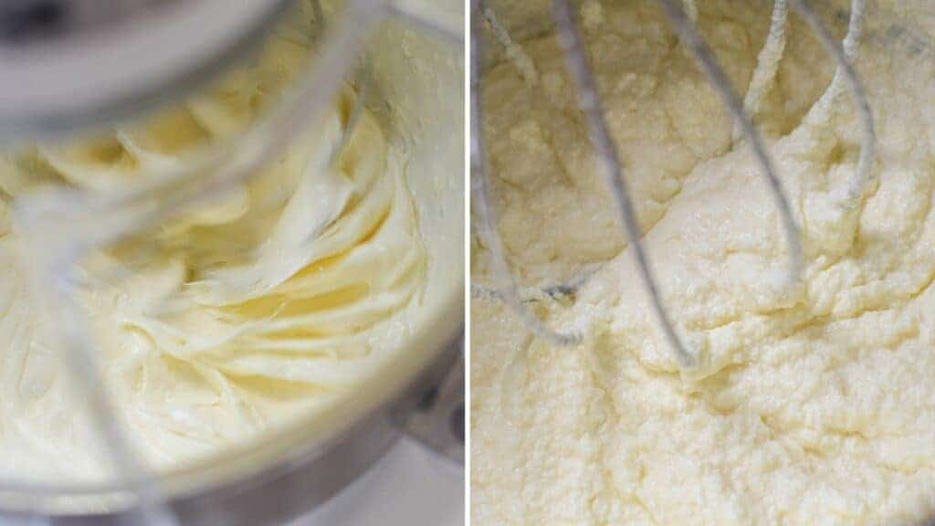 Whisked butter that has turned grainy