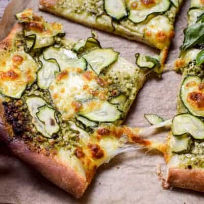 Zucchini Pesto Pizza – A simple summer meal