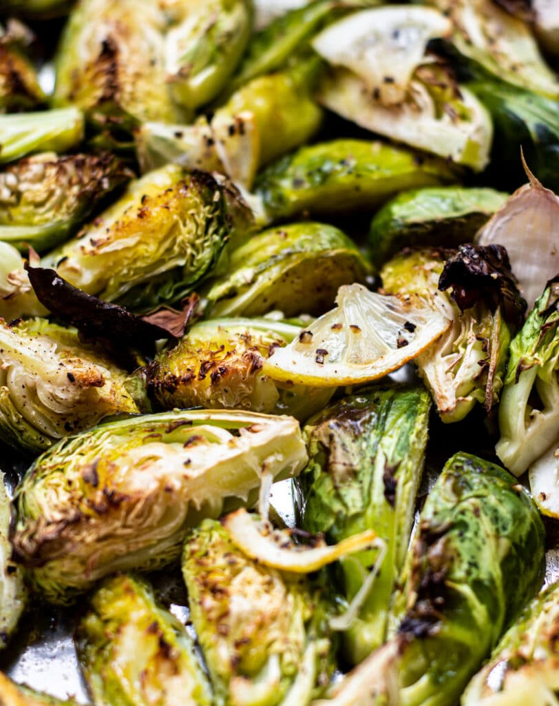 roasted Brussels sprouts with lemon