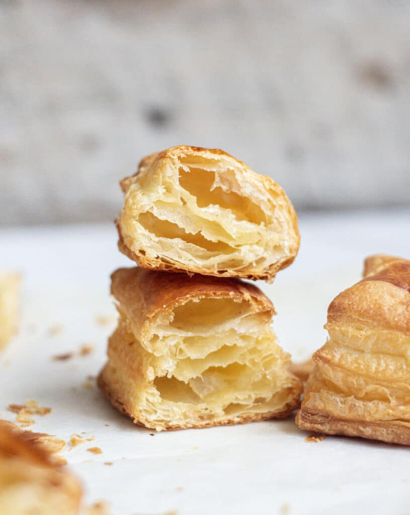 stacked puffed pastry